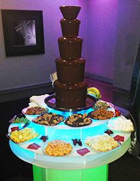 Chocolate Fountain with dippers at private party