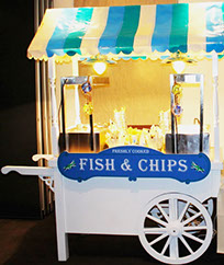 Traditional Fish & Chips Cart on hire at Event in Manchester