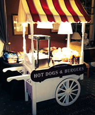 Hot Dogs & Burgers stand for Weddings and Party hire in Manchester