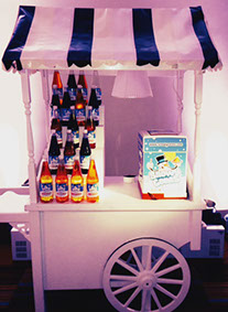 Snow Cones Machine on Victorian Barrow with assorted flavours - for Hire