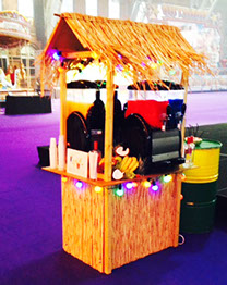 Slush & Cocktail Machine in Tiki Bar for Events hire in Manchester and Leeds