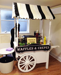 Waffles & Crepes Cart for Party & Event Hire in Manchester